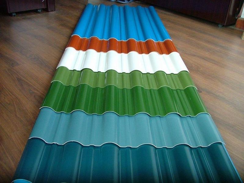 Профнастил с полимерным покрытием выпускается в огромной цветовой гамме