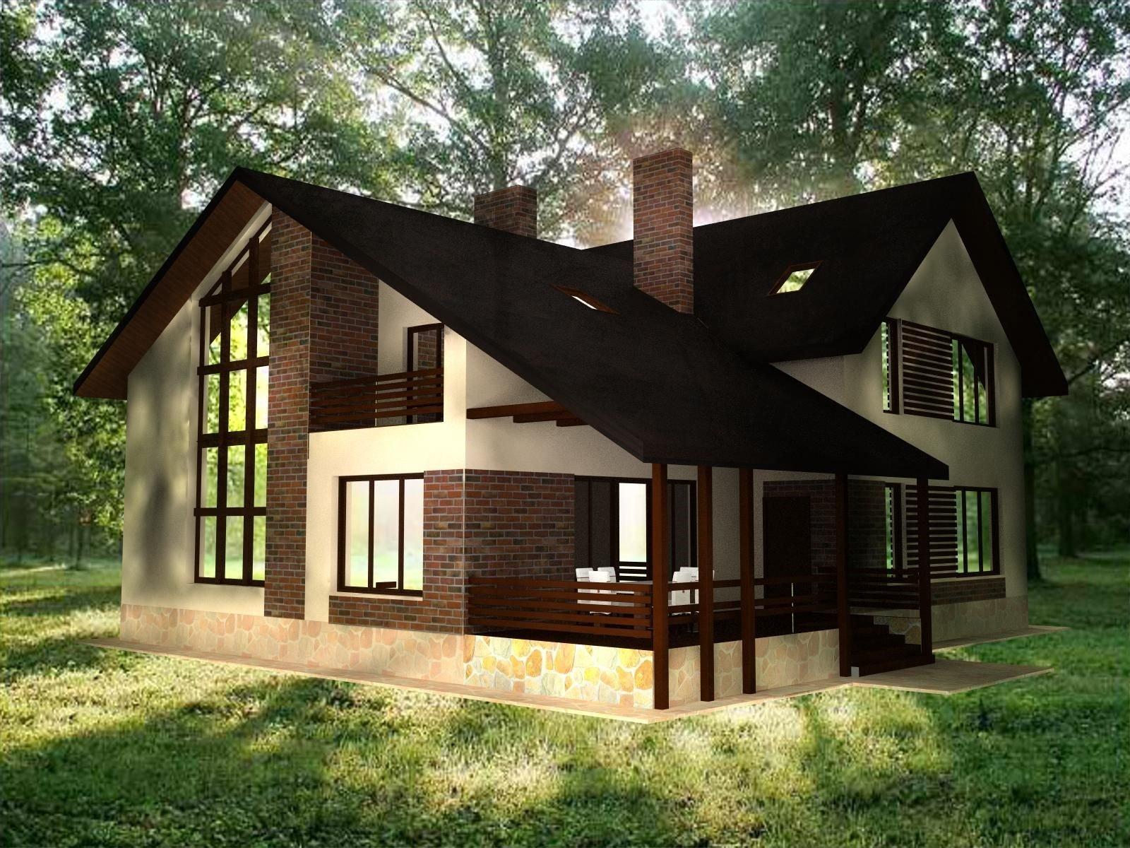 При подборе материала для отделки дома учитывают, насколько гармонично он впишется в ландшафт