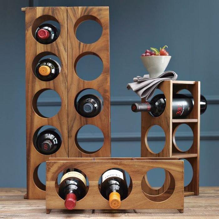 Деревянный полки для винного шкафа