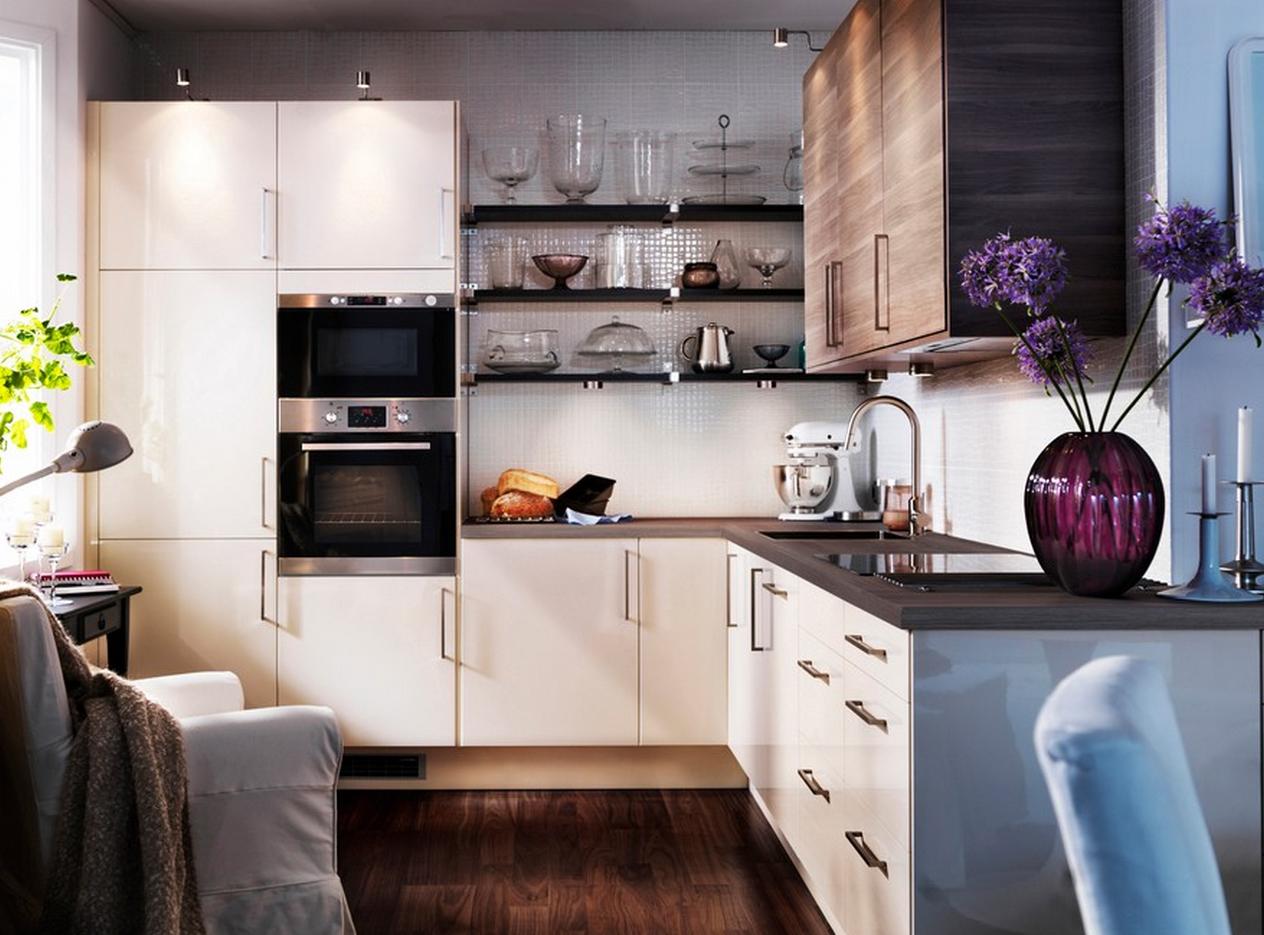 Обустройство маленькой кухни современной бытовой техникой