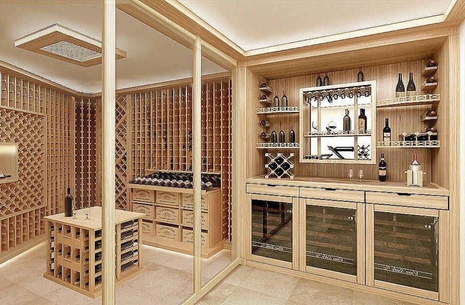 Винные шкафы можно вписать практически в любой интерьер