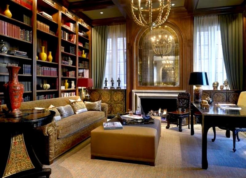 Аксессуары, текстиль и освещение при оформлении квартиры в классическом стиле