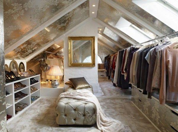 Гардеробная комната на мансарде