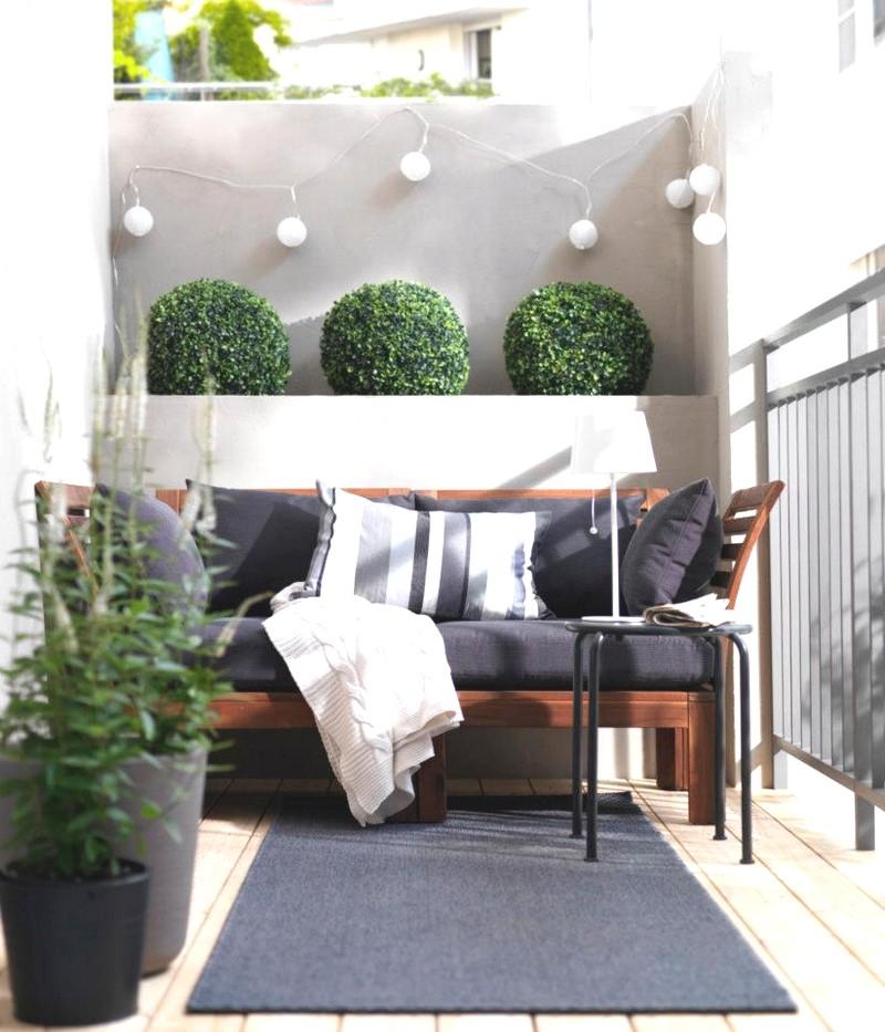 Дизайн балкона в стиле модерн