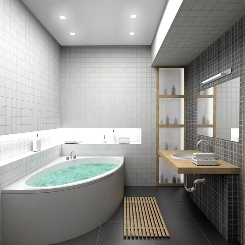 Замечательное решение для небольшой ванной комнаты