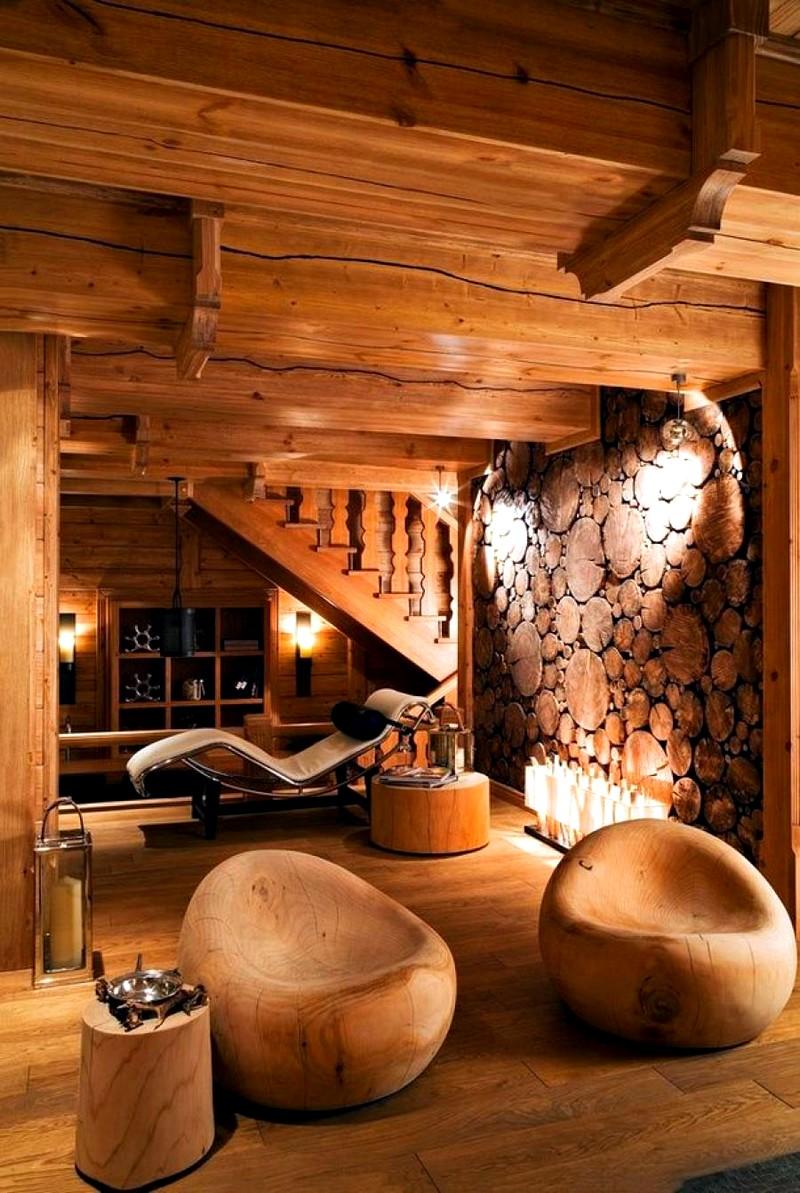 Интерьер в деревянном доме в классическом стиле