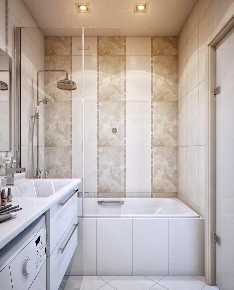 Отличный дизайн для небольшой ванной комнаты