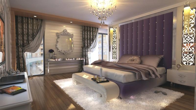 Роскошная спальня в стиле модерн