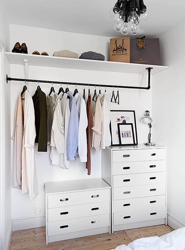 Современный дизайн гардеробной комнаты