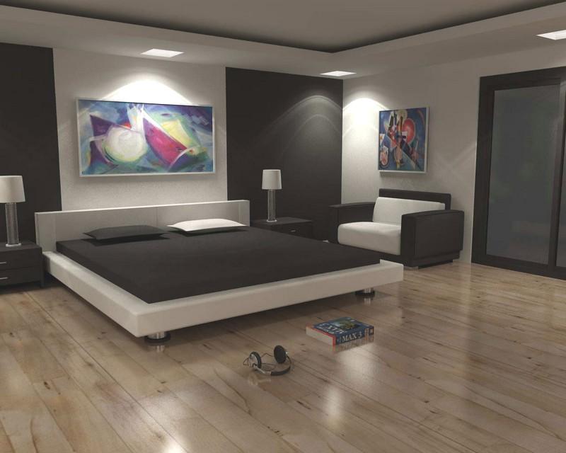 Спальня в черно-белых тонах