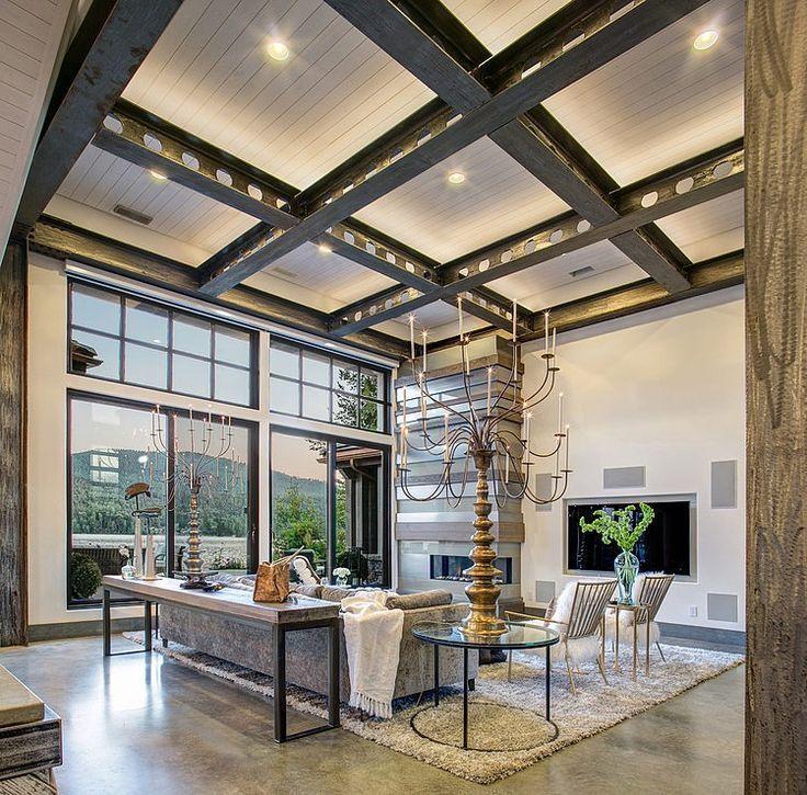 металлические балки под потолком