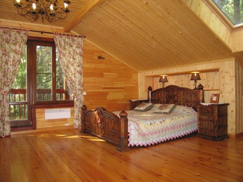 Дизайн деревенского дома изнутри