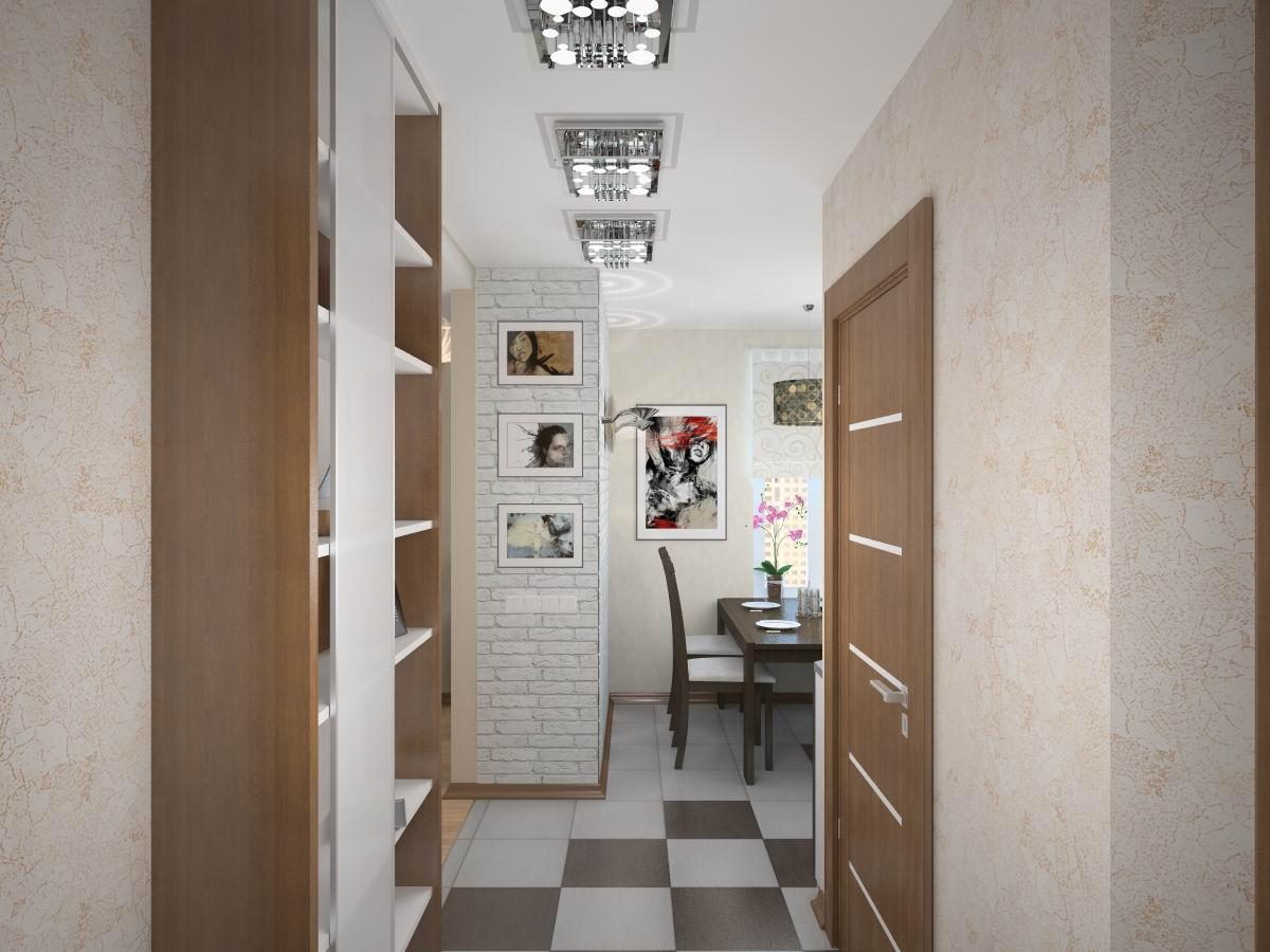 Дизайн коридора в хрущевке в светлых тонах