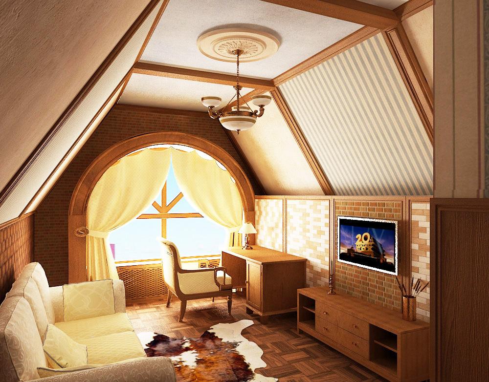 Чудеса на чердаке – дизайн мансарды: фотогалерея интерьера в частном доме