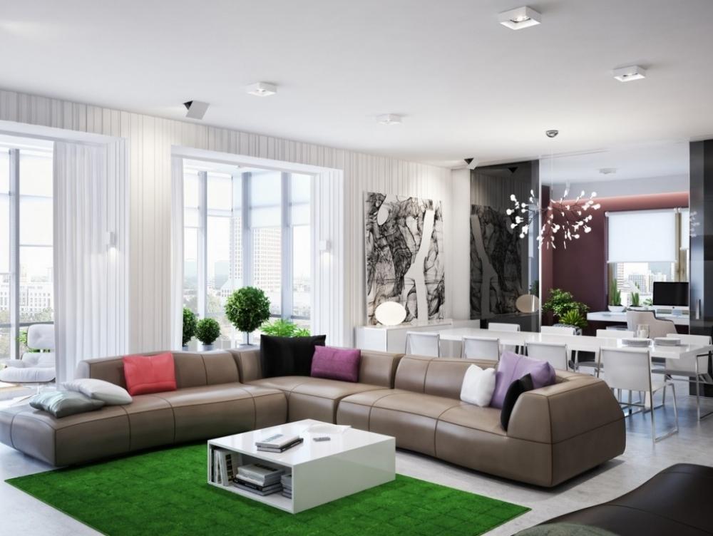 Интерьер зала в стиле модерн