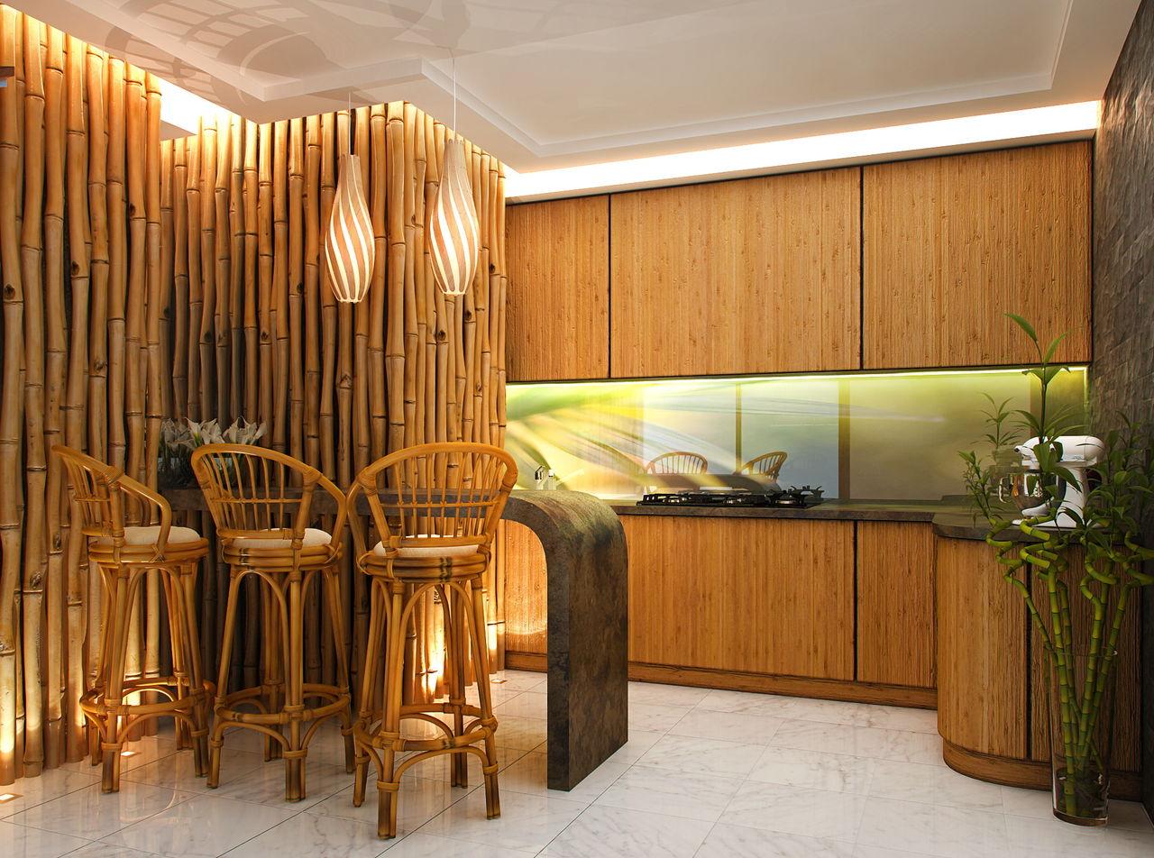 Бамбук визуально уменьшает пространство