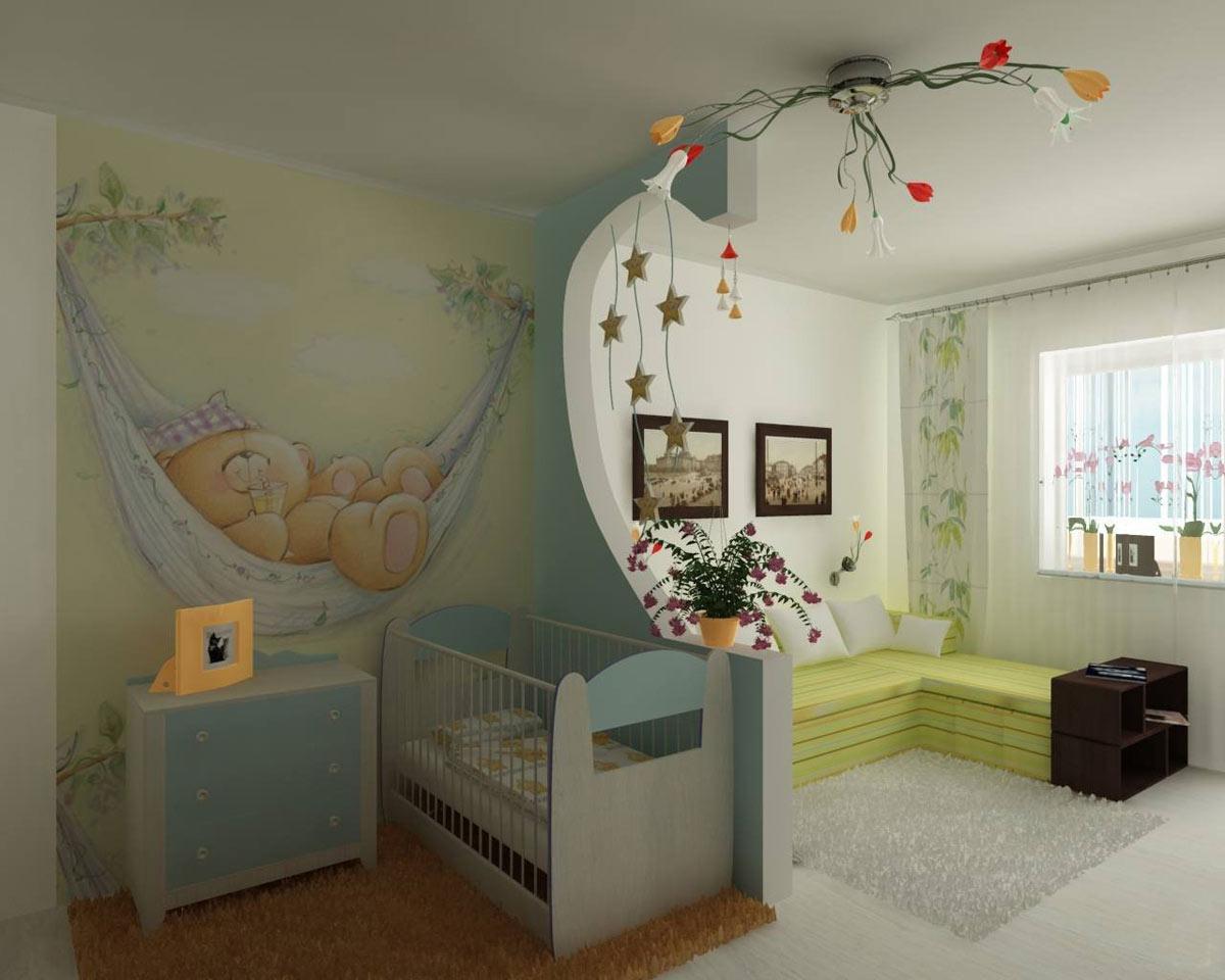 Дизайн детской для двух детей разного возраста
