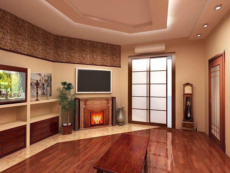 Современный дизайн интерьера зала в квартире