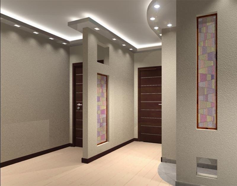 Стильный интерьер коридора в квартире