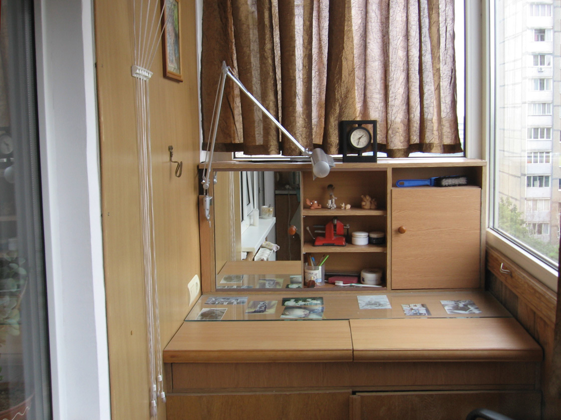 Малая мастерская на балконе в свёрнутом виде