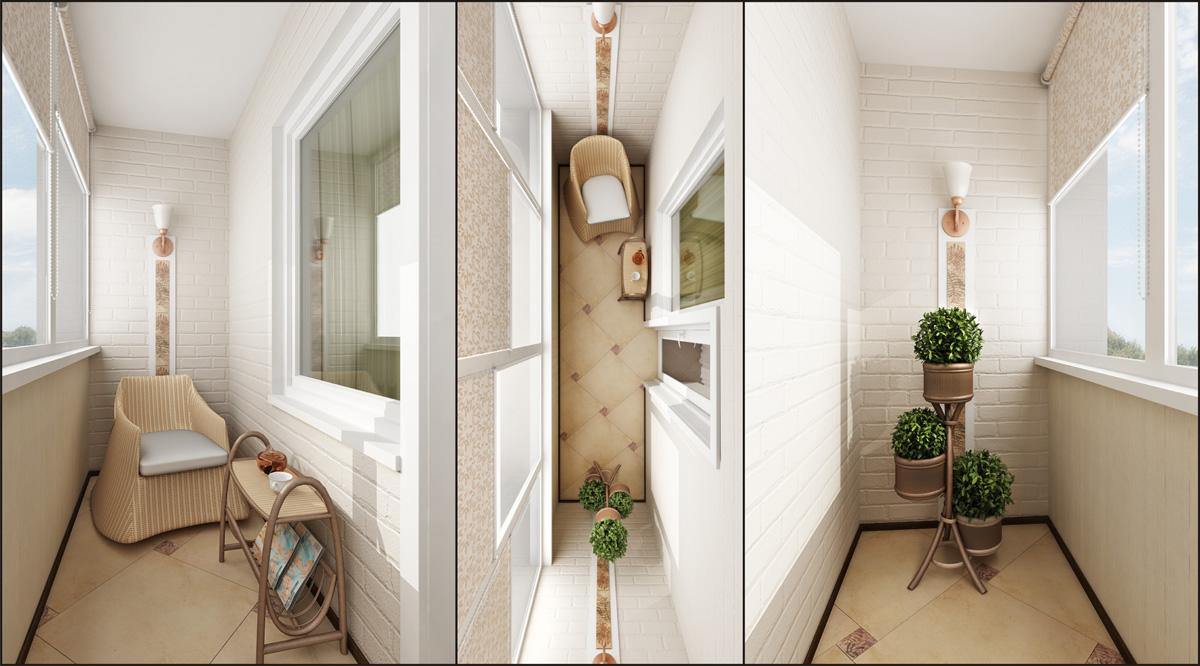 Использование маленького балкона как место отдыха