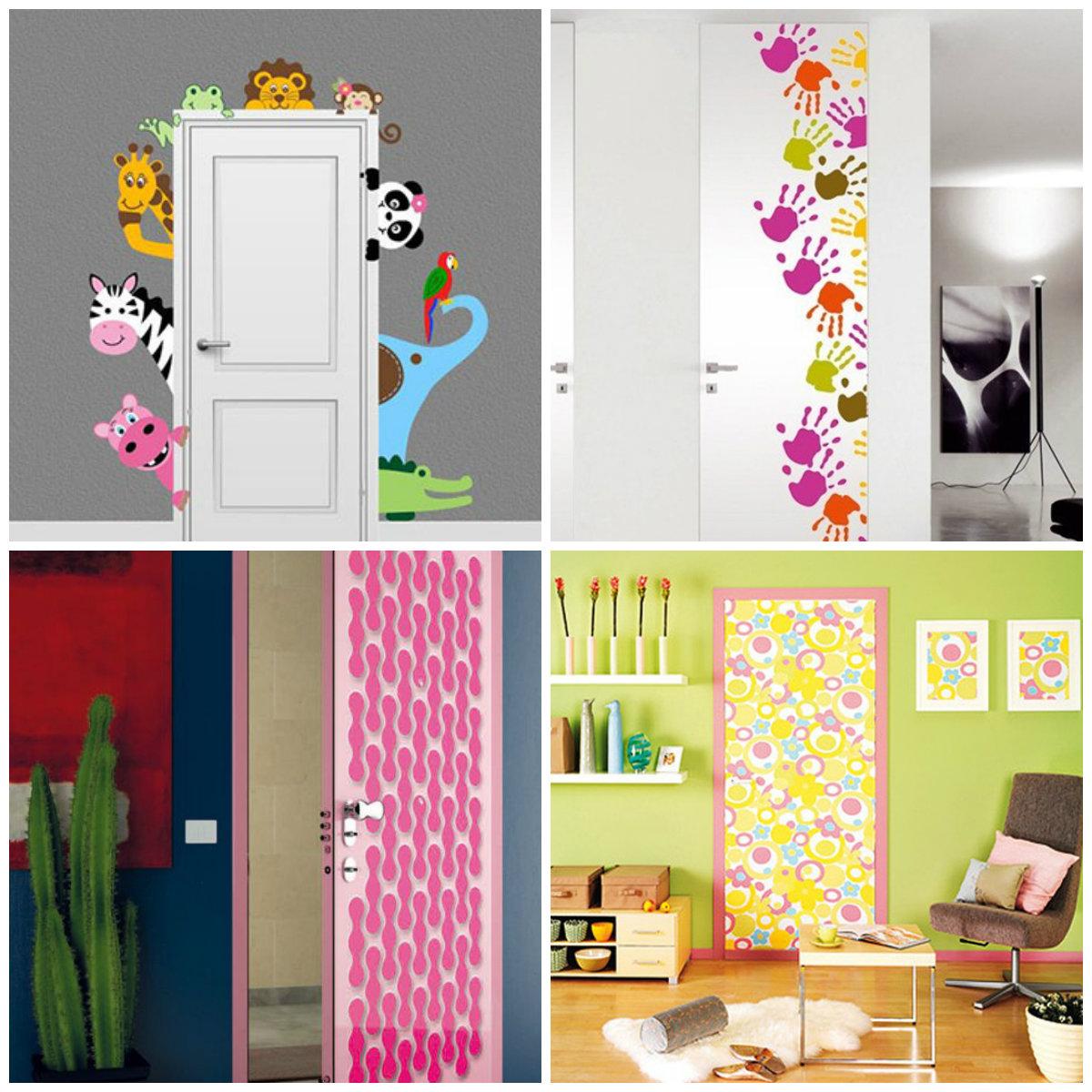 Как украсить двери в детскую