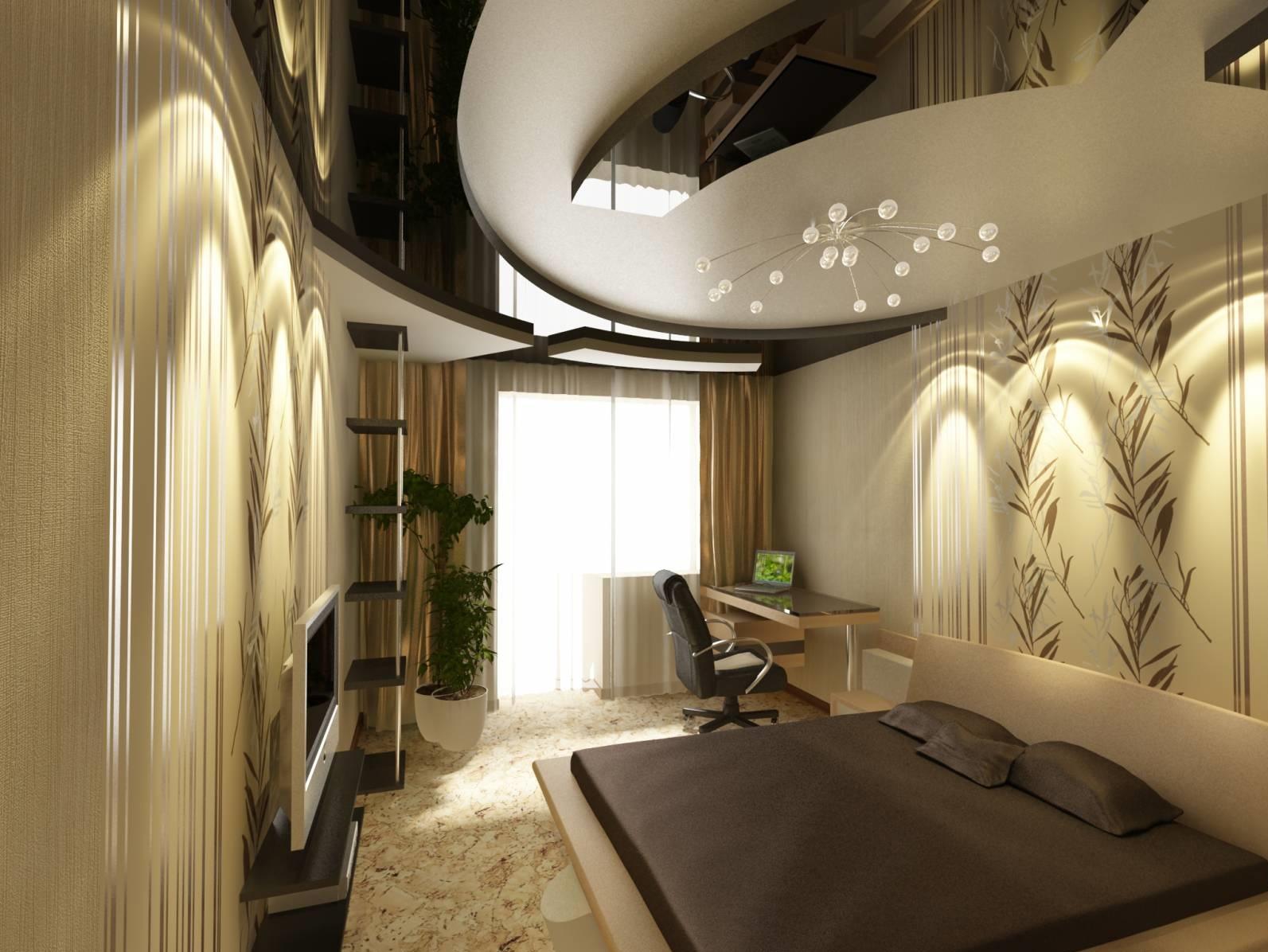 Интерьер потолков из гипсокартона