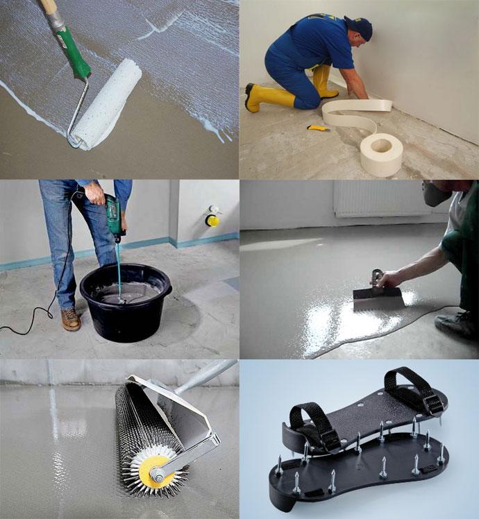 Подготовка основания наливного пола