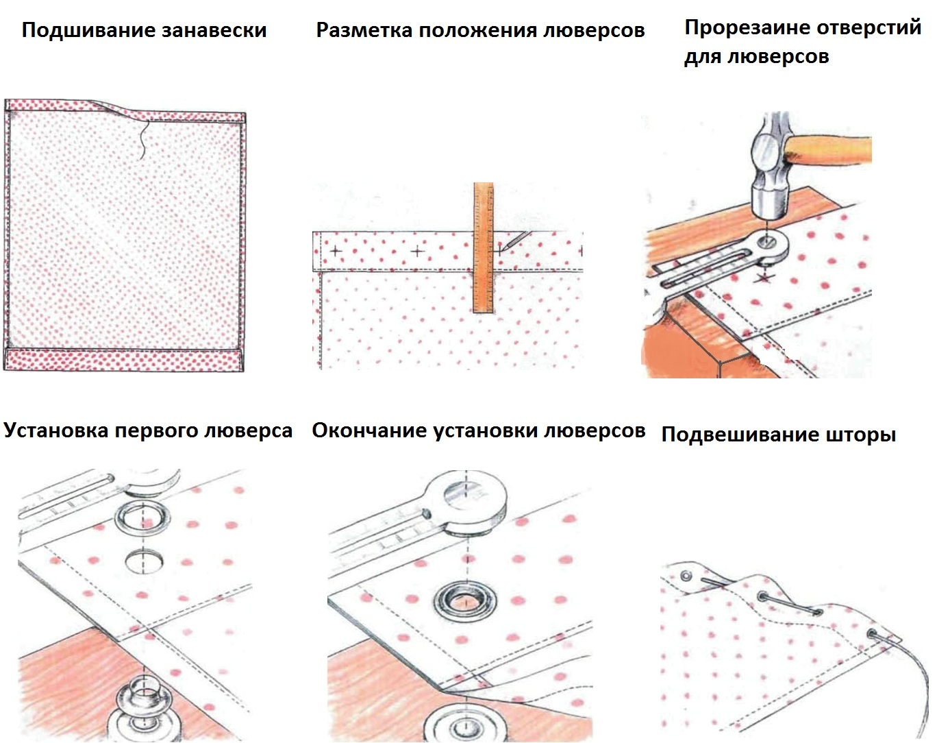 Изготовление шторы на люверсах