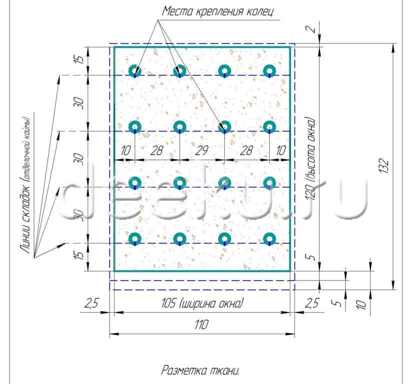 Схема сборки римских штор в домашних условиях