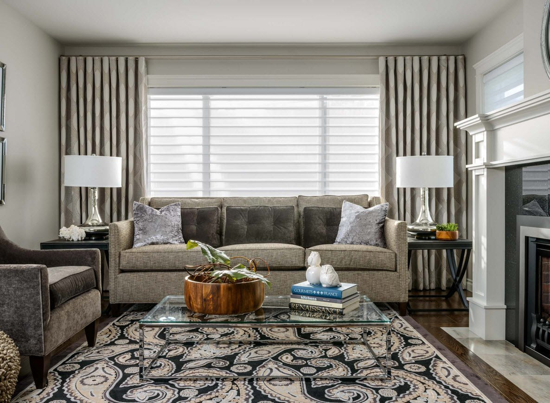Шторы в дизайне интерьера гостиной