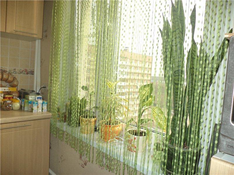 Современные нитевые шторы