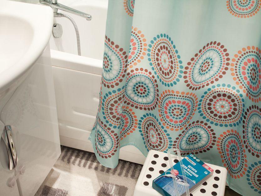 Монтаж угловых шторок для ванной со штангой