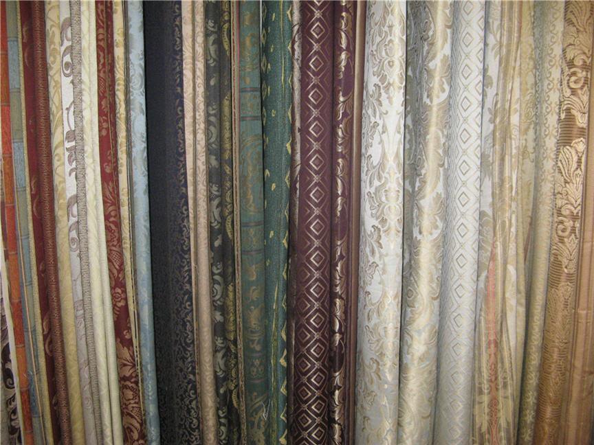 Разнообразие тканей для штор - каталог и фото