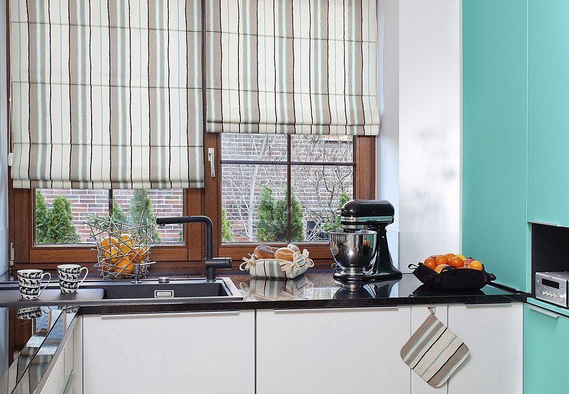 Римские шторы на кухню: фото и рекомендации