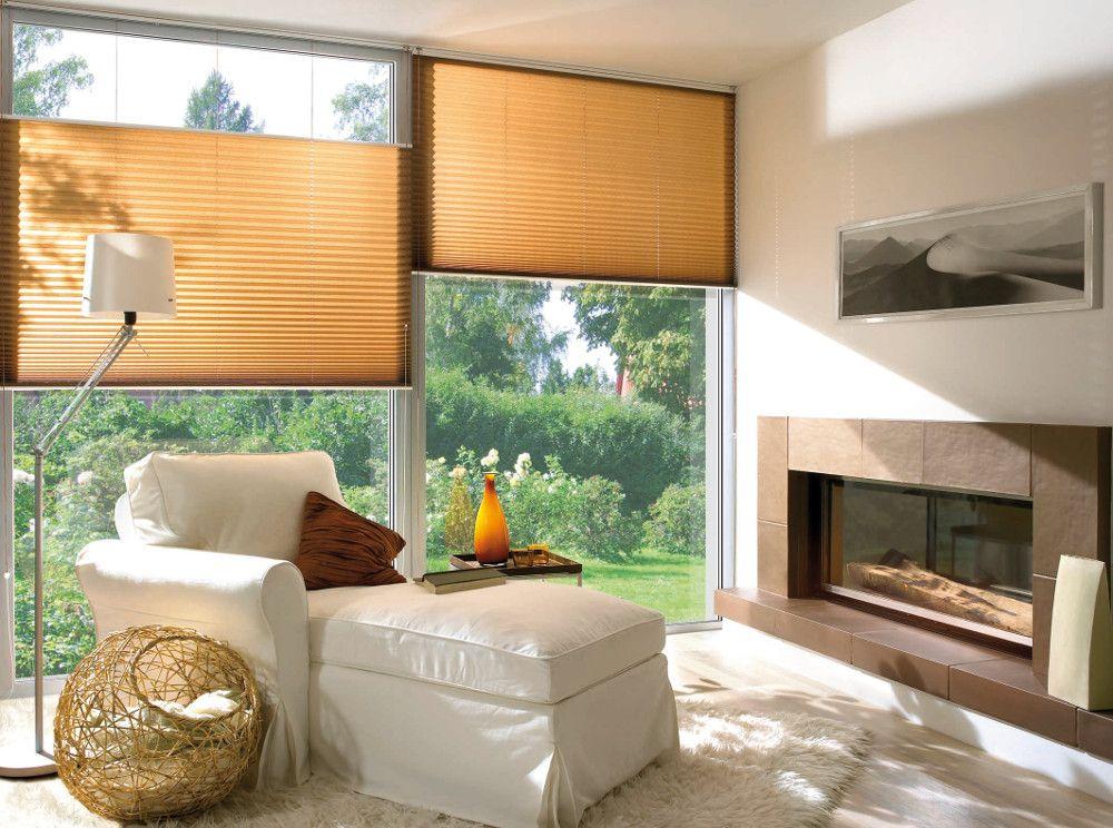 Шторы плиссе могут закрывать любой участок окна благодаря подвижной системе