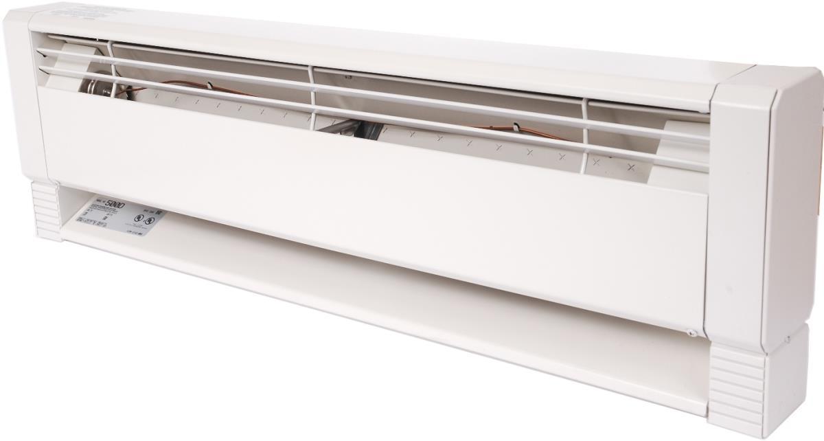 Для большей теплоотдачи в водяных плинтусах может применяться тангенциальный вентилятор