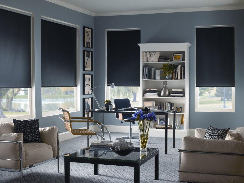 Рулонные шторы придают внешнему виду комнаты завершенность