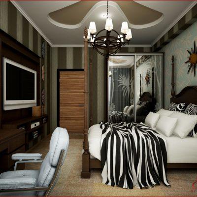 Африканский стиль в интерьере спальн