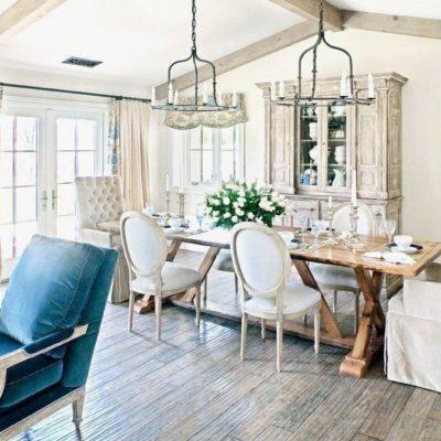 Дизайн гостиной в стиле шебби-шик