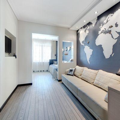 Дизайн интерьера в морском стиле фото
