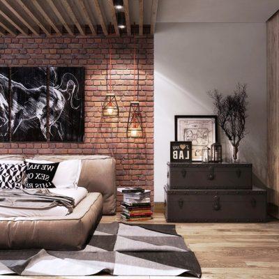 Фото гостиной в стиле лофт