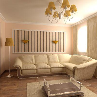 Фотография интерьера дизайна гостиной