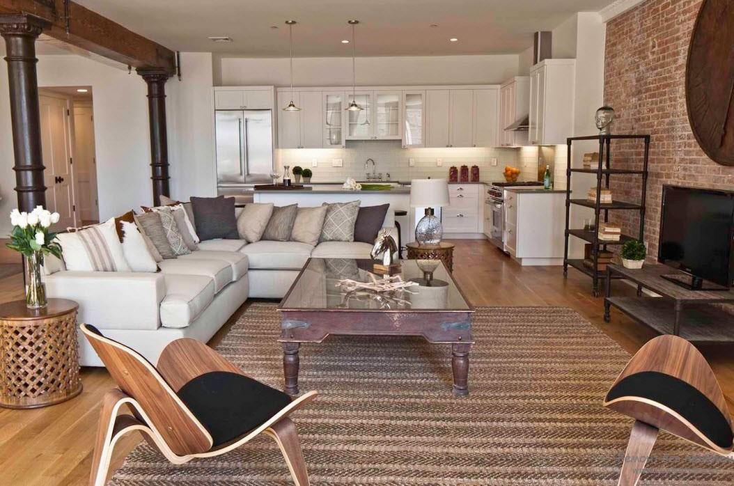 Как выбрать мебель для гостиной в стиле лофт
