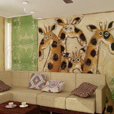 Интересная спальня в африканском стиле