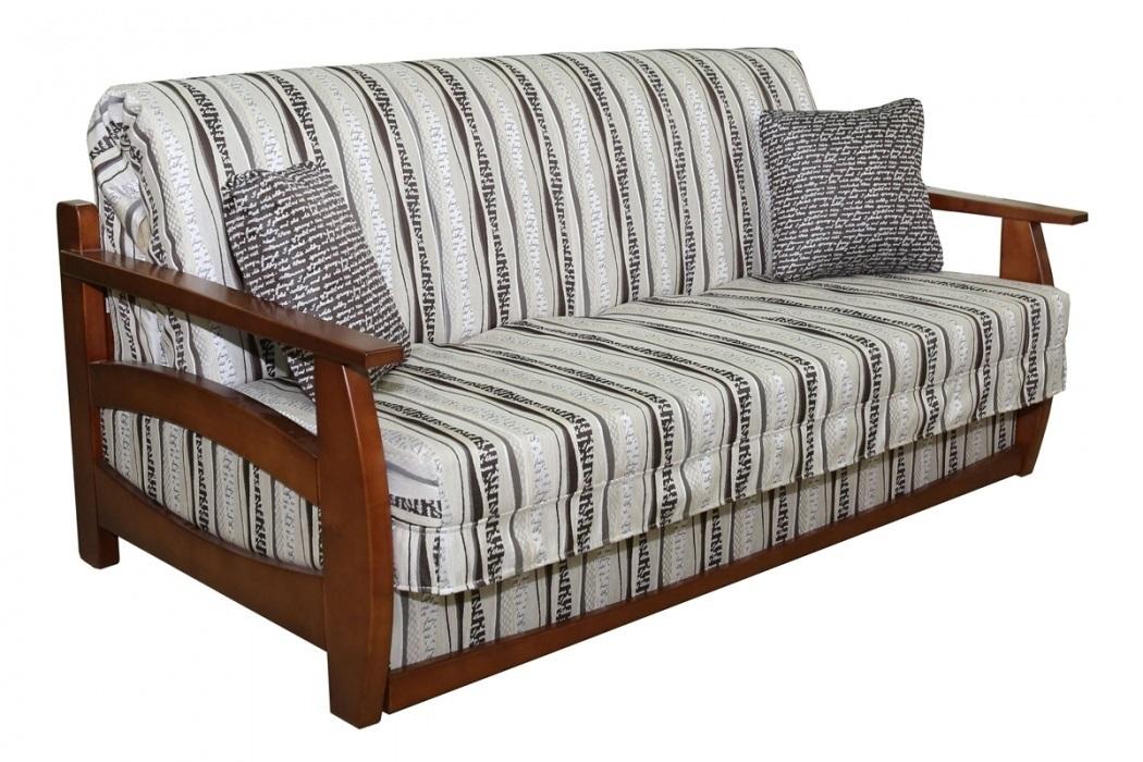 Каркасный диван из натурального дерева