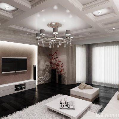 Красивая фотография гостиной