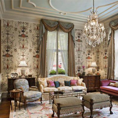 Красивая гостиная в английском стиле