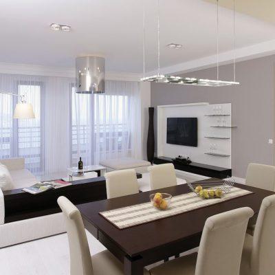 Морской стиль в дизайне большой квартиры