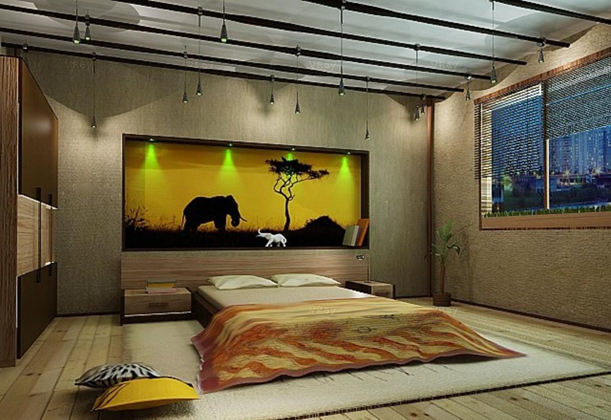 Потолок спальной комнаты